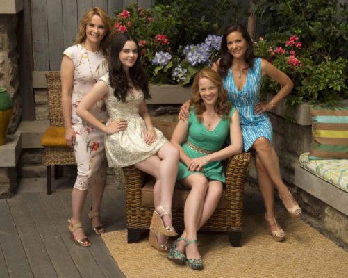 "SWITCHED AT BIRTH - Freeform's ""Switched at Birth"" stars Lea Thompson as Kathryn Kennish, Vanessa Marano as Bay Kennish, Katie Leclerc as Daphne Vasquez and Constance Marie as Regina Vasquez . (Freeform/Todd Wawrychuk)"
