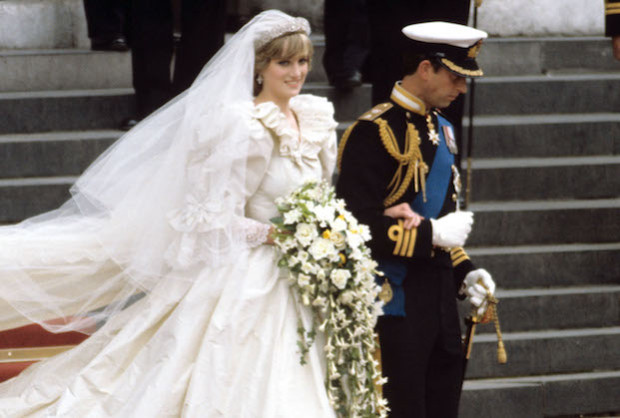 Mandatory Credit: Photo by REX/Shutterstock (88888bk) Princess Diana and Prince Charles walking down the steps of St. Pauls cathedral Wedding of Prince Charles and Lady Diana Spencer, London, Britain - 29 Jul 1981