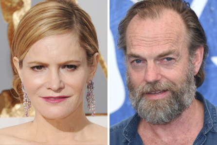 Jennifer Jason Leigh & Hugo Weaving fichan por la serie limitada de Showtime, Patrick Melrose