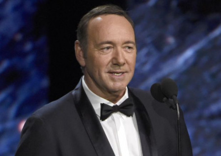 Mandatory Credit: Photo by Invision/AP/REX/Shutterstock (9177794c) Kevin Spacey presents the award for excellence in television at the BAFTA Los Angeles Britannia Awards at the Beverly Hilton Hotel, in Beverly Hills, Calif 2017 BAFTA Los Angeles Britannia Awards - Show, Beverly Hills, USA - 27 Oct 2017