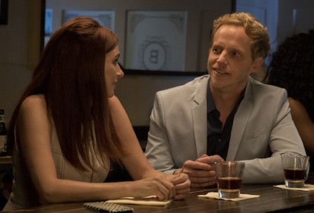 """YOU'RE THE WORST -- """"From The Beginning, I Was Screwed"""" - Season Four, Episode 11 (Airs November 8, 10:00 pm e/p)  Pictured (l-r): Aya Cash as Gretchen, Chris Geere as Jimmy. CR: Byron Cohen/FXX"""