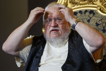George RR Martin and Robin Hobb in Conversation, London, Britain - 19 Aug 2014