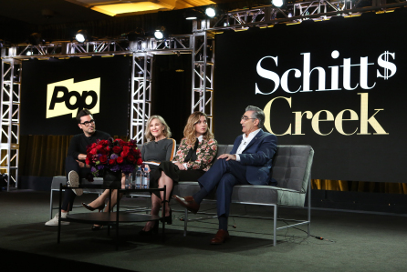 POPTV 'Schitt's Creek' TV show panel, TCA Winter Press Tour, Los Angeles, USA - 14 Jan 2018