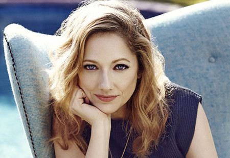 Judy Greer, photographed in her backyard in Los Angeles on May 21, 2014.