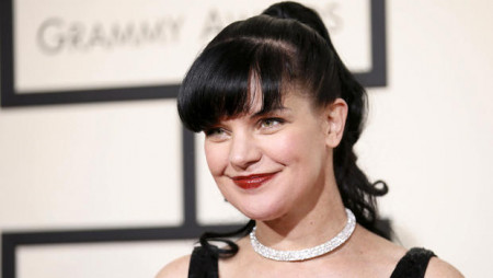 Actress Pauley Perrette arrives at the 58th Grammy Awards in Los Angeles
