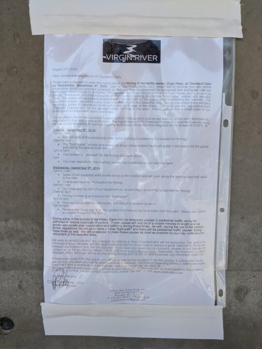 aviso de producción para la temporada 3 del río virgen
